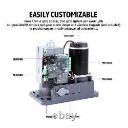 1100lb 40ft Auto Sliding Gate Opener 150W Motor IR Sensor Solar Panel Kit Remote