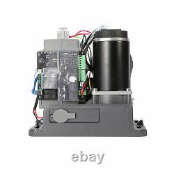 1100lb/500kg Auto-sensing Sliding Gate Opener Kit 150W DC Motor Solar Compatible