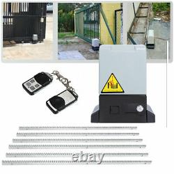 1200KG Sliding Gate Opener Driveway Motor Electric Operator 2RC 6 Meter Rack Kit