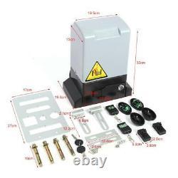 1200kg 2000kg Sliding Electric Gate Opener Auto Motor Remote 6x1M Heavy Duty Kit