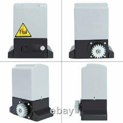 1800lbs 800KG Auto Sliding Gate Opener Operator Kit 6m Rack With 2 Remote Control