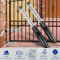 24V Auto Electric Powered Swing Gate Opener Kit With Remote Control IP44
