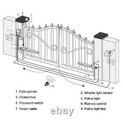 24V Auto Electric Remote Powered Swing Gate Opener Kit WithRemote Control