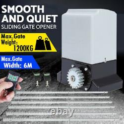 2600lbs Automatic Slide Gate Opener Electric Operator Door Security Kit 6m Rail