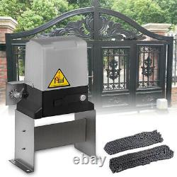 3300LBS Sliding Electric Gate Opener Automatic Motor Remote Kit Heavy Duty Chain