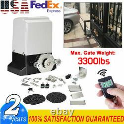 3300 lbs Automatic Sliding Gate Opener Motor Auto-Close Security System Kit USA