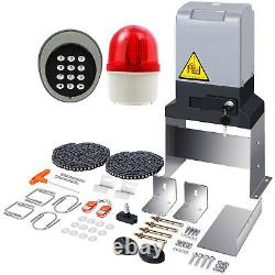 3300 lbs Sliding Gate Opener Automatic Operator Kit w Alarm system Remote