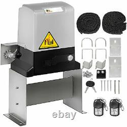 3300lbs Electric Sliding Gate Opener Operator Gates Kit Automatic Remote Control
