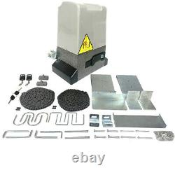 3500 lbs Automatic Sliding Gate Opener Motor Auto-Close Security System Kit