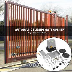370W 1400Lbs Automatic Sliding Gate Opener Door Hardware Kit Security System