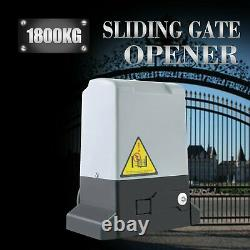 4000lb Electric Sliding Gate Opener 1800KG Automatic Motor Kit with2 remotes