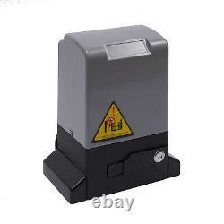 550W Automatic Electric Sliding Gate Opener Motor Garage Door Remote Control Kit