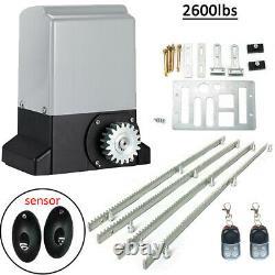 550W Electric Sliding Gate Operator, Infrared Garage Door Opener Kit with Racks