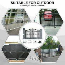 600KG Double Swing Automatic Gate Opener Kit Solar Power 24V 50M Remote Control
