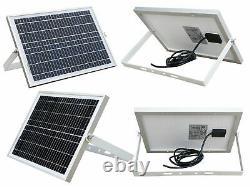 600KG Double Swing Gate Opener Door Kit Solar Panel Powered Remote IP66 DC 24V