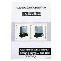 750W Auto Sliding Gate Opener Hardware Sliding Driveway Security Kit Door Opener