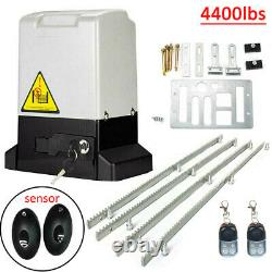 750W Electric Sliding Gate Opener, Infrared Door Operator Security Kit with Rack