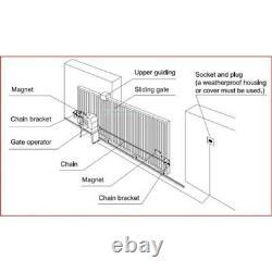 ALEKO Basic Kit Sliding Gate Opener For Sliding Gates Up To 45-ft 2400-lb