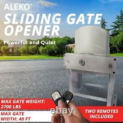 ALEKO Gate Opener with Accerssories Kit For Sliding Gates Up To 40Ft 2700Lb