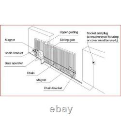 ALEKO Sliding Gate Opener Basic Kit For Gates Up To 40-ft 2700-lb