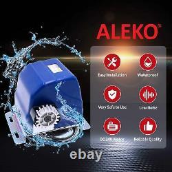 ALEKO Solar Kit Sliding Gear Rack Driven Opener For Gate Up To 30-ft 900-lb
