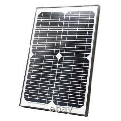 ALEKO Solar Powered Kit Swing Gate Operator For Dual Gates Up To 1320 lb AC/DC
