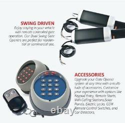 ALEKO Swing Gate Opener Operator For Dual Gates up to 1320 lb RC AC/DC Basic Kit