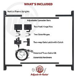Adjust-A-Gate Steel Frame Gate Building Kit, 36-60 Wide Opening Up To 7' High