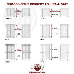 Adjust-A-Gate Steel Frame Gate Building Kit, 60-96 In Wide Opening 3-4 Feet High