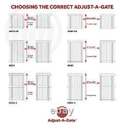 Adjust-A-Gate Steel Frame Gate Building Kit, 60-96 Inch Wide Opening (2 Pack)