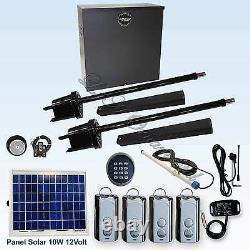 Apollo 1650 ETL Swing Gate Opener Kit 6 10 Watt Panel Solar Residential Operator