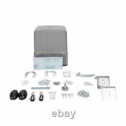 Auto-sensing Sliding Gate Opener Kit 150W DC Motor Solar Compatible 1100lb/500kg