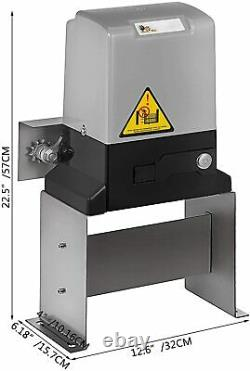 Automatic 3500lbs Sliding Gate Opener Hardware Driveway Security Kit Electric US