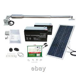 Automatic Gate Opener Electric Remote Kit Single Swing Solar Panel & Battery