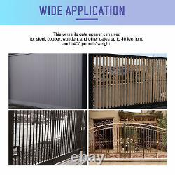 Automatic Gate Opener Kit with Remote Control Infrared Switch Premium Motor 1400Lb
