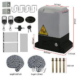 Automatic Opening Kit Sliding Gate Opener Driveway Safety Security 1800LB Door