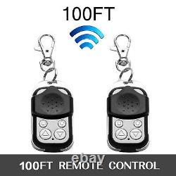 Automatic Sliding Gate Opener 1800lbs Hardware Kit Remote Control Door Motor
