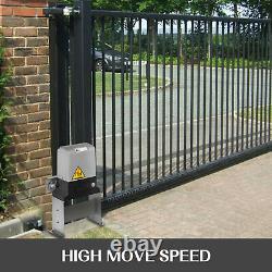Automatic Sliding Gate Opener 1800lbs Slide Roller Chain Operator Hardware Kit