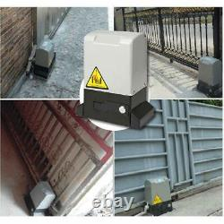 Automatic Sliding Gate Opener Chain Driveway Kit With 4X wireless Remote Control
