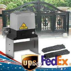 Automatic Sliding Gate Opener Driveway Opening Kit Security System 3300lbs New