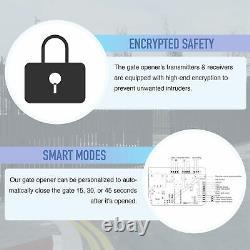 Automatic Sliding Gate Opener Hardware Driveway Security Gate Operator Kit 600kg