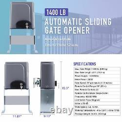 Automatic Sliding Gate Opener Hardware Driveway Security Kit 600KG 1400lb
