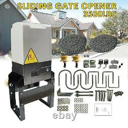 Automatic Sliding Gate Opener Hardware Sliding Driveway Kit+Operator Remote 110V