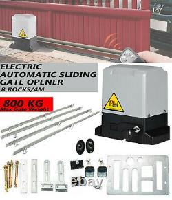 Automatic Sliding Gate Opener Kit 800kg Motor for Heavy Duty Slide Gates 110V
