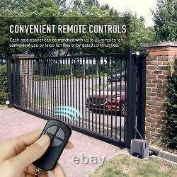 Automatic Sliding Gate Opener Kit w Photocell Sensor Chain Driveway 1400lbs