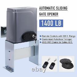 Automatic Sliding Slide Gate Opener Hardware Driveway 1400LBS Door Operator Kit