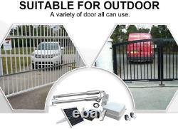 Automatic Solar Gate Opener Kit With Waterproof Keypad Heavy-Duty For Dual Swing