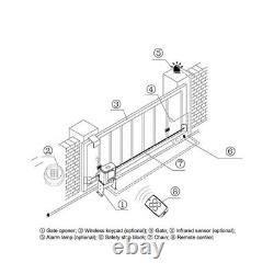 CO-Z 1400lbs Automatic Sliding Gate Opener Door Hardware Kit Security System IDU