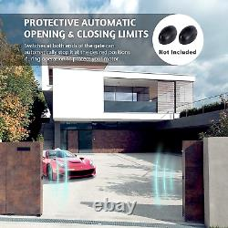 CO-Z B0197V3OD2 gate Opener, Sliding Driveway Security Kit Silver