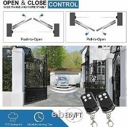 DCHOUSE Automatic Gate Opener Dual Swing Gate Opener 880lbs Kit With20W Solarpanel